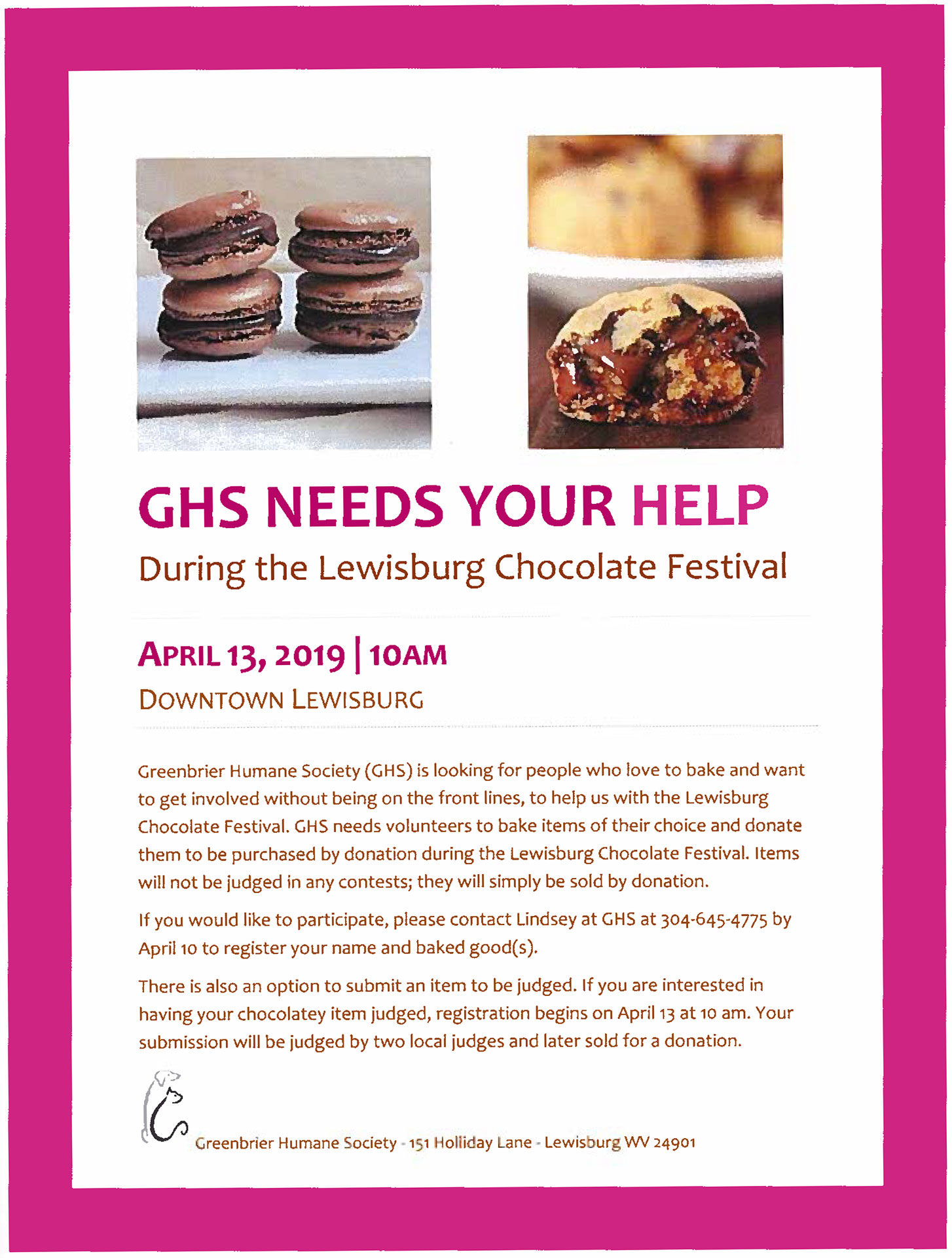 GHS Needs Your Help LCF